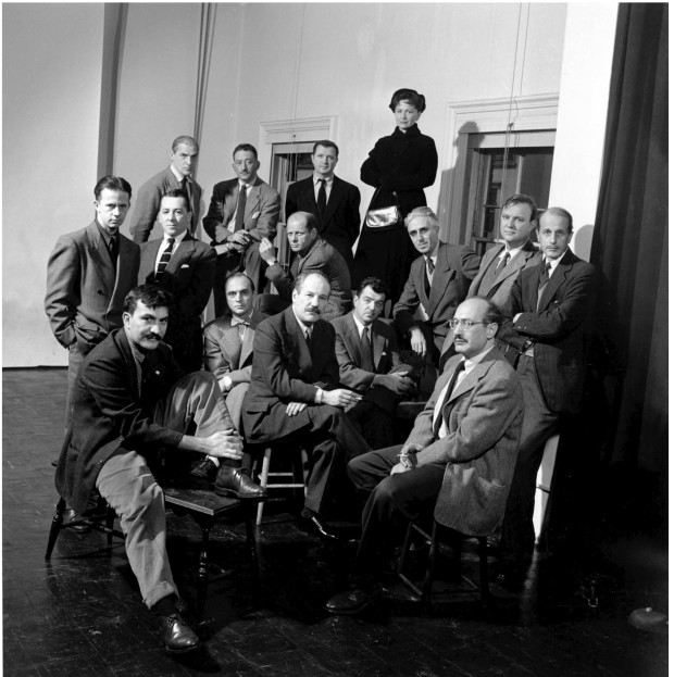 American abstract artists, The Irascibles, including William Baziotes, James C. Brooks, Jimmy Ernst, Adolph Gottlieb, Hedda Sterne, Clyfford Still, Willem de Kooning, Bradley Walter Tomlin, Barnett Newman, Jackson Pollock, Theodoros Stamos, Richard Pousette-Dart, Robert Motherwell, Ad Reinhardt, and Mark Rothko. (Photo by Nina Leen//Time Life Pictures/Getty Images)